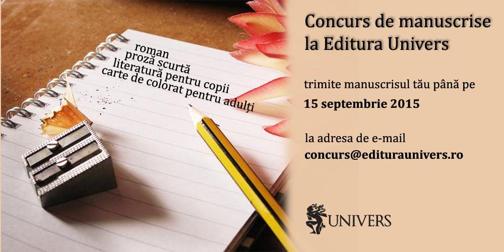 concurs manuscrise editura univers