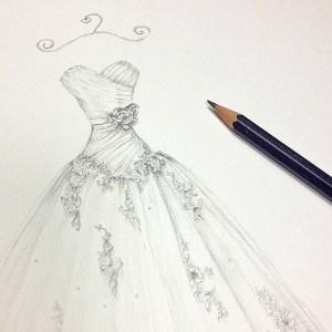 original_wedding-dress-portrait-pencil