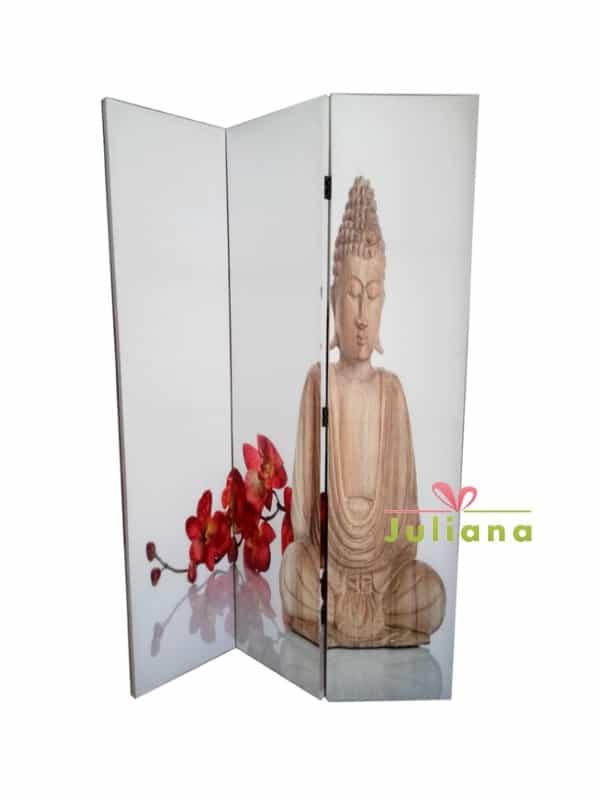 paravan-decorativ-buddha-flori-rosii