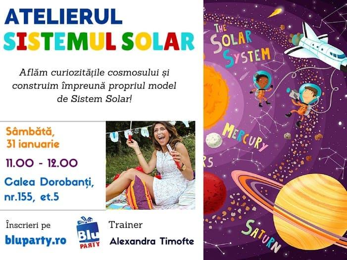 Afis atelier sistemul solar pentru copii