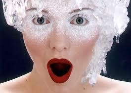 woman frozen