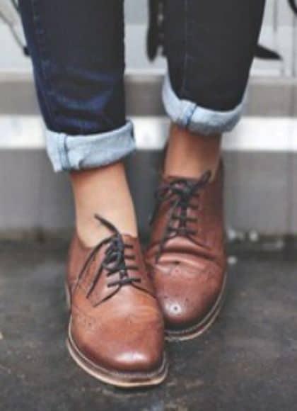 pantofi maro piele